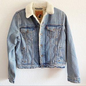 Levi's Sherpa Fleece Lined Original Trucker Jacket Women's Medium